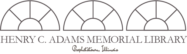 Henry C. Adams Memorial Library, Prophetstown, Illinois logo